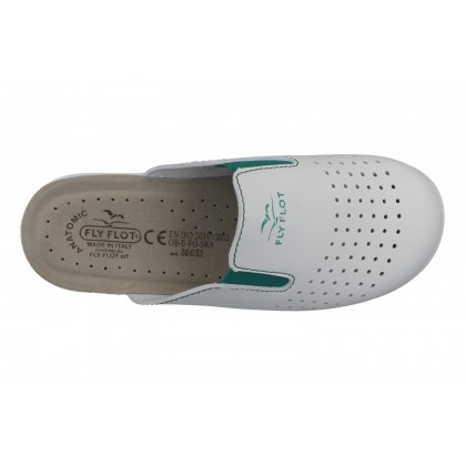 SYNTHETIC WOMAN SLIPPER WHITE